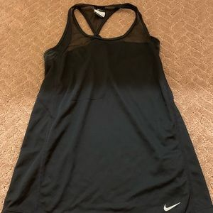 Black Nike Tank Top with mesh at the top